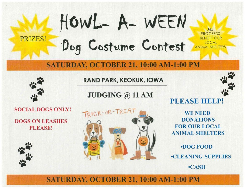 Howl-A-Ween Dog Costume Contest @ Rand Park | Keokuk | Iowa | United States