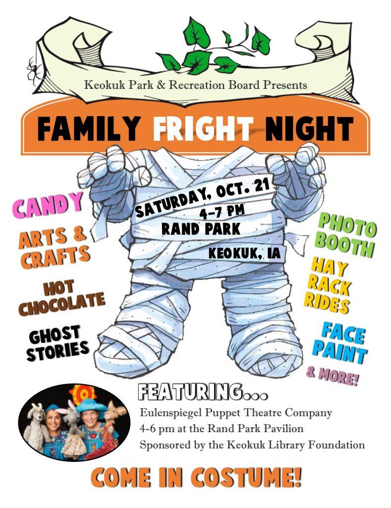 Family Fright Night! @ Rand Park | Keokuk | Iowa | United States